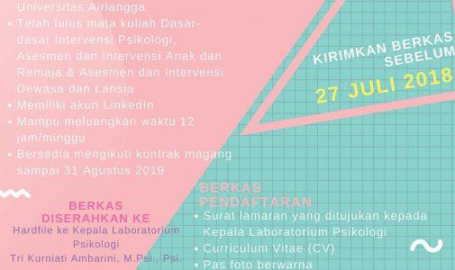 Open Recruitment Asisten Laboratorium 2.5