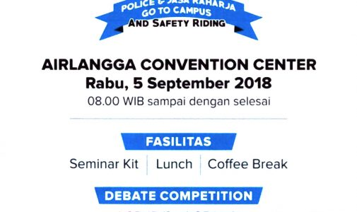 Police & Jasa Raharja Go To Campus and Safety Riding