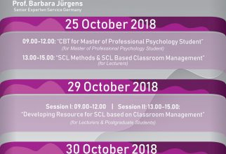Workshop Series for Lecturers and Postgraduate Students by Prof. Barbara Jürgens