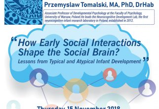 """Kuliah Umum: """"How Early Social Interactions Shape the Social Brain? Lessons from Typycal and Atypical Infant Development"""""""