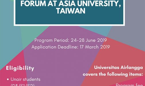 Outbound Program - Airlangga Mobility 2019: Management and Leadership Development Forum, Asia University, Taiwan