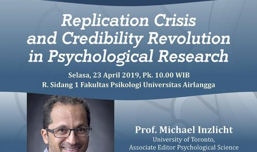 Public Lecture: Replication Crisis and Credibility Revolution in Psychological Research (RESCHEDULED)