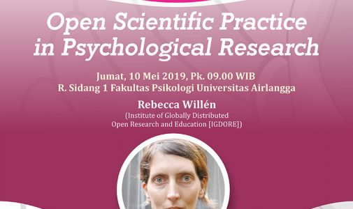 Public Lecture: Open Scientific Practice in Psychological Research