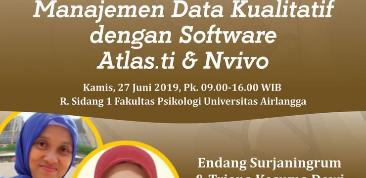 Workshop - Manajemen Data Kualitatif dengan Software Atlas.ti & Nvivo