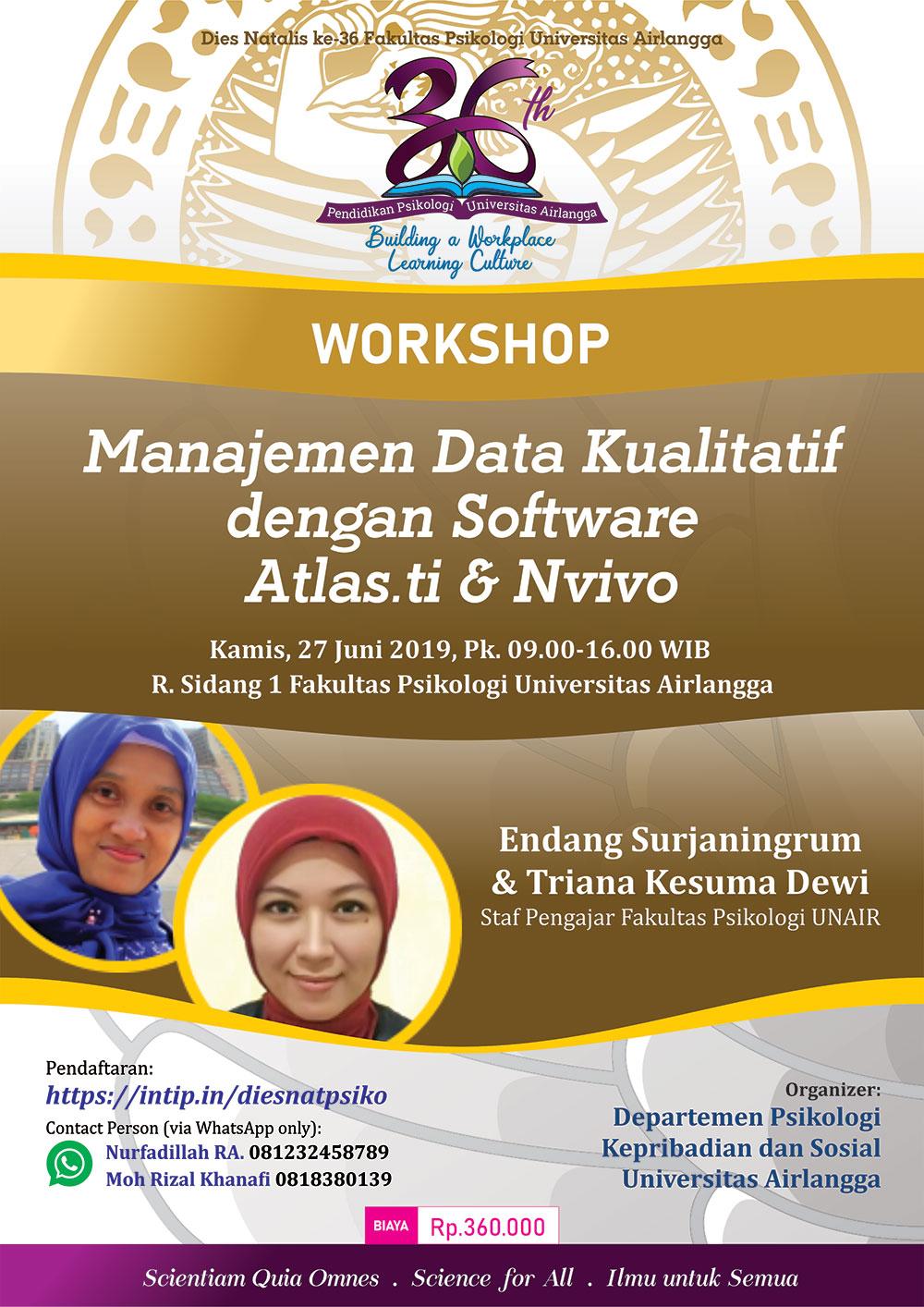 Workshop Manajemen Data Kualitatif dengan Software Atlas.ti & Nvivo