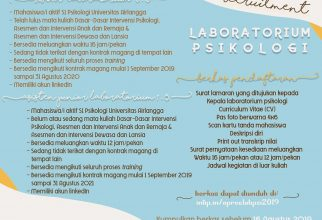 Open Recruitment Magang Laboratorium Psikologi 2019-2020
