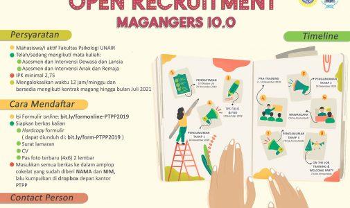 Open Recruitment Magangers PTPP 10.0!