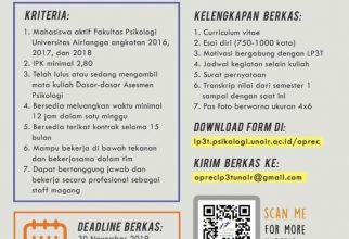 Open Recruitment LP3T Magangers 26