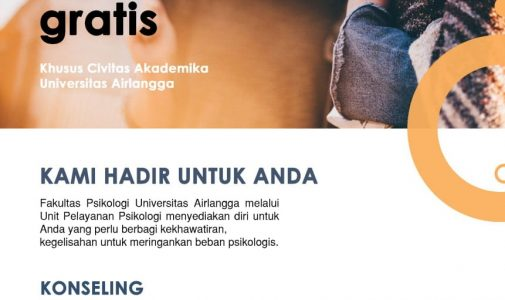 Konseling Psikologis Gratis untuk Civitas Akademika UNAIR