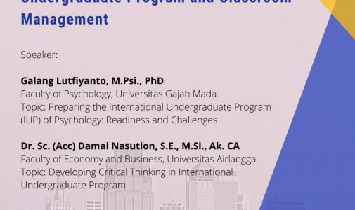 Sharing Session: Debriefing Session for International Undergraduate Program and Classroom Management