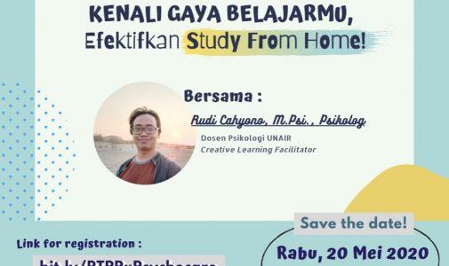 Webinar: Kenali Gaya Belajarmu, Efektifkan Study From Home!