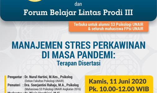 Forum Belajar Lintas Prodi III: Manajemen Stres Perkawinan di Masa Pandemi