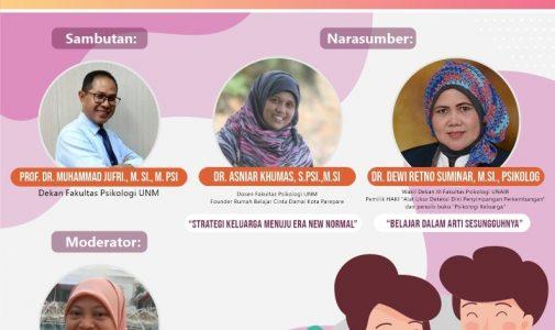 Webinar Psikologi Perkembangan: Membangun Ketahanan Keluarga dalam Menghadapi New Normal