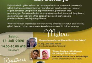 Webinar: Mempersiapkan Dewasa Gifted untuk Mandiri dan Berkarya