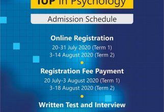 International Undergraduate Program Admission Schedule