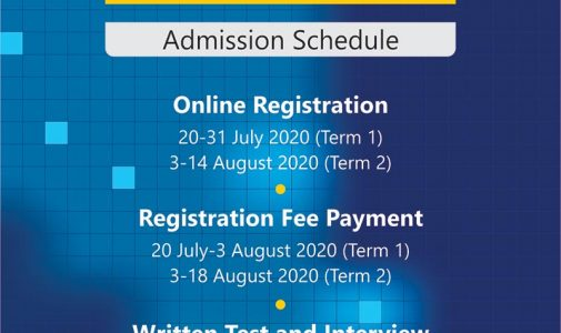 International Undergraduate Program Admission Schedule