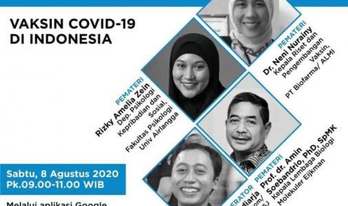 ALMI x SISJ Webinar: Ilmuwan Merespons Pandemi - Vaksin COVID-19 di Indonesia