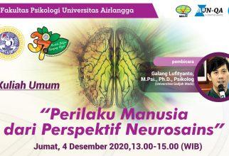 Kuliah Umum: Perilaku Manusia dari Perspektif Neurosains