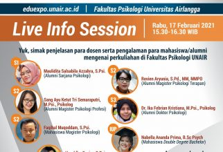 Live Info Session Fakultas Psikologi UNAIR - Airlangga Education Expo 2021