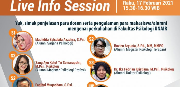 Live Info Session Fakultas Psikologi UNAIR - Airlangga Education Expo 2021