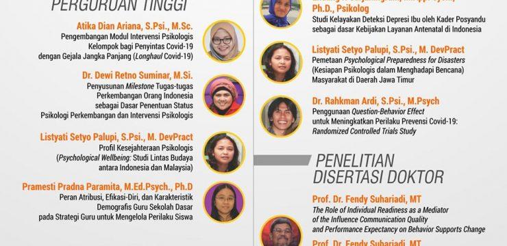 Selamat Para Peneliti Fakultas Psikologi UNAIR (Simlitabmas Ristekdikti tahun 2021)