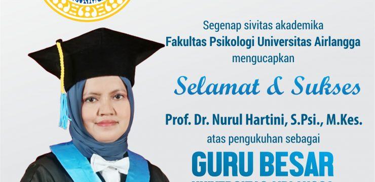 Selamat dan Sukses Guru Besar Baru Fakultas Psikologi UNAIR