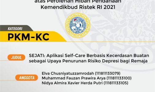 Selamat Kepada Tim Penyusun Proposal PKM Hibah Pendanaan Kemendikbud Ristek RI 2021